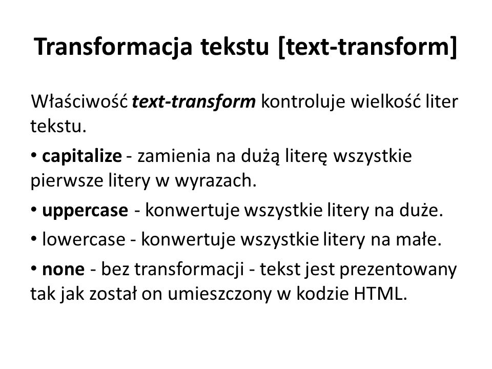 Transformacja tekstu [text-transform]
